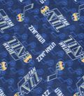 Utah Jazz Fleece Fabric 58\u0022-Logo Toss