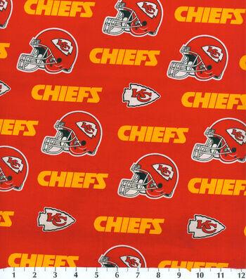 "Kansas City Chiefs Cotton Fabric 58""-Mascot Logo"