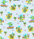 Novelty Cotton Fabric 44\u0022-Frogs On Beach