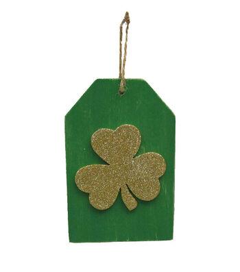 St. Patrick's Day Shamrock Door Hanger-Green