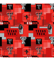Texas Tech University Red Raiders Cotton Fabric 43''-Modern Block, , hi-res
