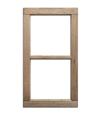 Salvaged 2 Pane Weathered Wood Window Frame