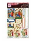 Anita\u0027s A4 Foiled Decoupage Sheet-The Nativity