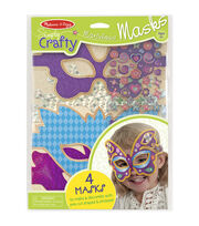 Melissa & Doug Simply Crafty Marvelous Masks Kit-Makes 4, , hi-res