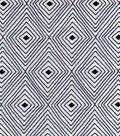 Snuggle Flannel Fabric 42\u0027\u0027-Black & White Diamond Geometric