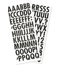 Sticko® Dimensional Alphabet Stickers-Silver Dots on Black