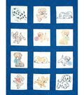 Jack Dempsey Stmpd Nursery Quilt Blocks 9\u0022X9\u0022-Puppies