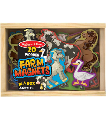 Farm -wooden Magnet Set