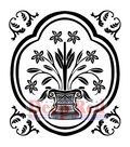 Deep Red Cling Stamp 2\u0022X2\u0022-Folk Vase