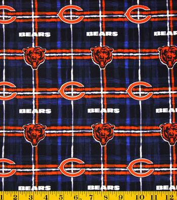 "Chicago Bears Flannel Fabric 42""-Plaid"