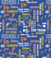 "University of Florida Gators Cotton Fabric 44""-Glitter Block, , hi-res"