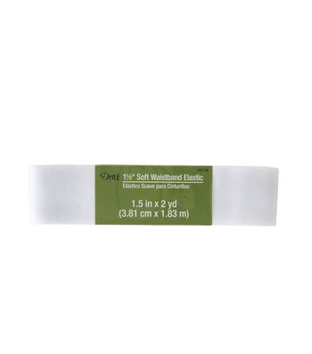 Dritz® 1.5'' Soft Waistband Elastic-White