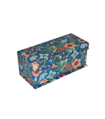 Organizing Essentials™ Extra Small Flip Top Box-Floral Paper