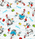 Dr. Suess Cotton Fabric 44\u0022-Kids & Cat Reading
