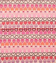 """Alexander Henry Cotton Fabric 44""""-Hearts and Bones Tea, , hi-res"""