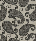 Print Fabric-Vintage Paisley Black-Tan