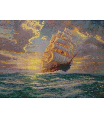 "Thomas Kinkade Courageous Voyage Counted Cross Stitch Kit-16""X12"" 16 Count"
