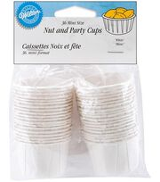 Wilton® Mini Nut & Party Cups 1-1/4 Ounces-White, , hi-res