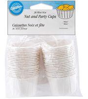 Wilton® Mini Nut & Party Cups 1-1/4 Ounces-White, , hi-res