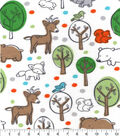 Snuggle Flannel Fabric 42\u0027\u0027-Boy Woodland