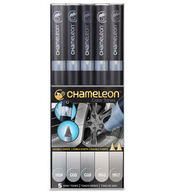 Chameleon 5 pk Color Tone Pens-Gray Tones
