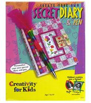 Creativity for Kids Kit-Create Your Own Secret Diary, , hi-res