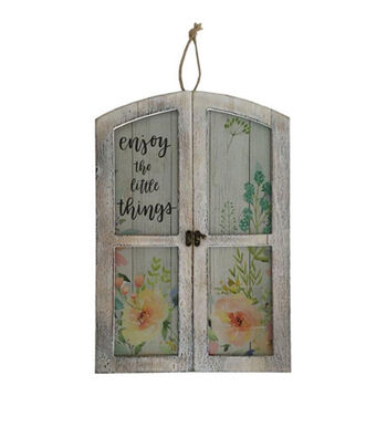 Hello Spring Glass Door Wall Decor-Enjoy the Little Things