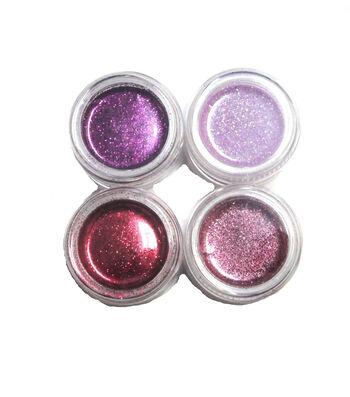 Maker's Halloween 4 Count Metallic Glitter Makeup Set-Pink & Purple
