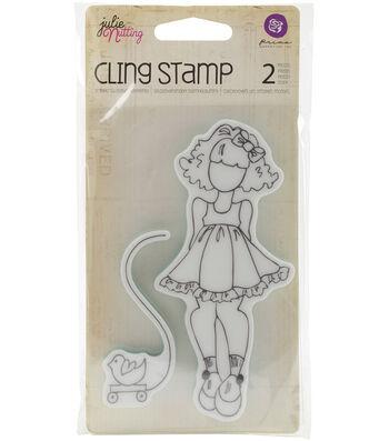 Littl Girl-mixed Med Doll Stamp