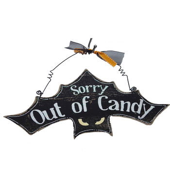 Maker's Halloween Wall Decor-Sorry Out of Candy