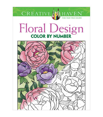 Adult Coloring Book-Creative Haven Floral Design Color By Number