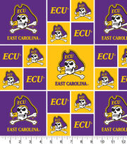 "East Carolina University Pirates Cotton Fabric 43""-Block, , hi-res"