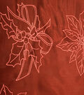 Sew Sweet Glitter Organza Large Floral Fabric 58\u0022-Holly Red
