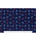 Nursery Cotton Fabric 43\u0022-Nautical Anchors