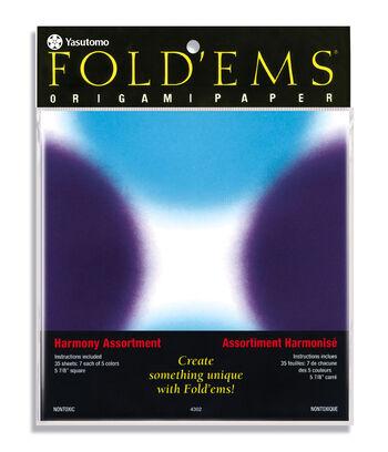 Yasutomo® Fold'ems 35 pk 5.88'' Origami Paper-Harmony Assortment