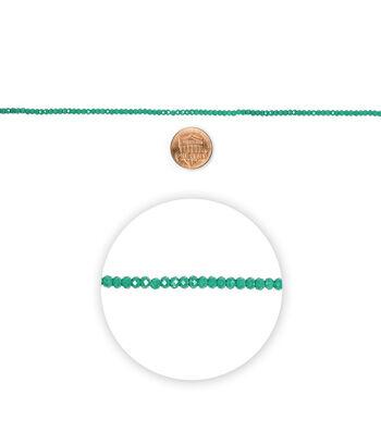 "Blue Moon Beads 7"" Strand Glass Bead Roundel Dark Green"