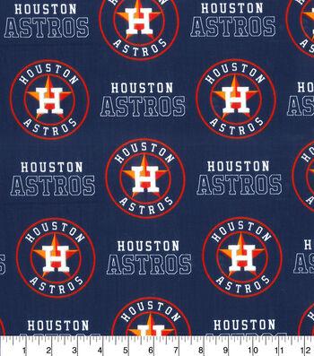 """Houston Astros Cotton Fabric 58""""-Logo"""