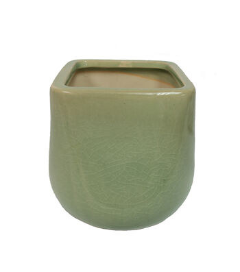 Fresh Picked Spring Small Ceramic Container-Green