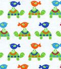 Snuggle Flannel Fabric 42\u0027\u0027-Turtles & Birdies