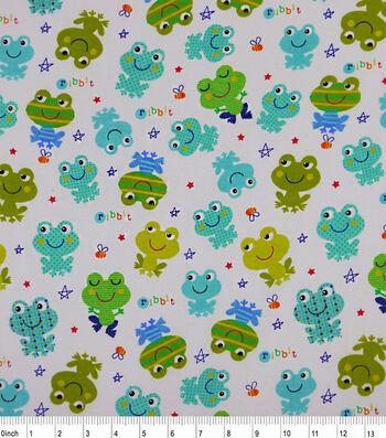 "3 Yard Pre-Cut Snuggle Flannel Fabric 42""-Ribbit"