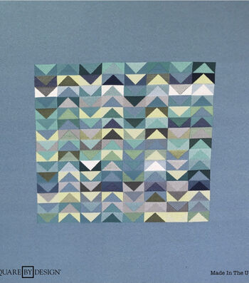 Square By Design® Woven Fabric 25''-Blues & Greens Chevron