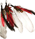 RD/WHT/BLK-FEATHER PICK