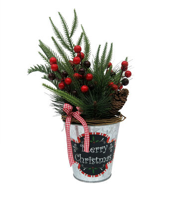 "Blooming Holiday 12"" Potted Floral"