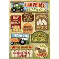 Karen Foster Farm Cardstock Stickers I Love My Tractor