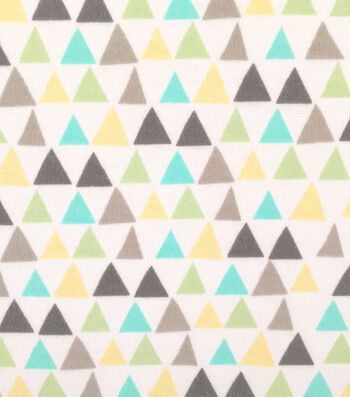 """Doodles Cotton Fabric 57""""-Triangles"""