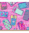 Anti-Pill Fleece Fabric 59\u0022-Techno Girly