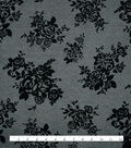 Knit Ponte Fabric 57\u0022-Gray