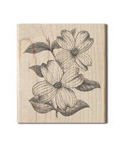 Hampton Art Cam & Chloe Mounted Stamp-Dogwood Flowers, , hi-res