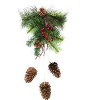 Blooming Holiday Christmas Berry, Pinecone & Greenery Wall Decor, , hi-res