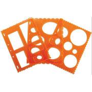 """Shape Template Set 8.5""""X11"""" 3/Pkg-Circles, Ovals&Rectangles, , hi-res"""